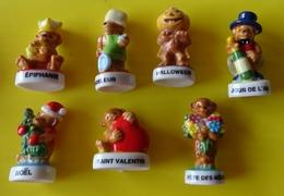 Fève  - Lot De 7 Fèves -   Fêtes De L' Année - Ours Ourson Nounours - Fête De L' Année - Fèves