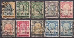 SIAM - 1909/1910 - Lotto Di 10 Valori Usati: Yvert 87 E 88/95. - Siam