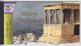 = Carnet Grèce Patrimoine Mondial Acropole Délos Delphes Mycènes Olympie C434 état Neuf Nations Unies Vienne - Carnets