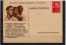 FAL12 - POLOGNE CARTE POSTALE ILLUSTREE MICHEL N° 145 NEUVE - Stamped Stationery