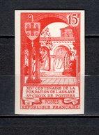 FRANCE  N° 926a  NON DENTELE NEUF SANS CHARNIERE  COTE 35.00€   ABBAYE SAINTE CROIX - France