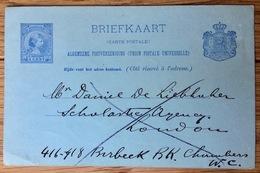 Nederland Pay Bas Olanda Netherlands ~ 1892, Briefkaart - Brieven En Documenten