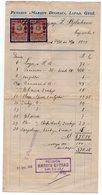1919 YUGOSLAVIA, CROATIA, DUBROVNIK, PANSION MARIJIN DVORAC, LAPAD, GRUZ, RECEIPT FOR THE SERVICES - Other
