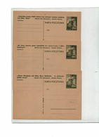 FAL12 - POLOGNE CARTE POSTALE MICHEL N° 98 A I/II/III NEUVES - Entiers Postaux
