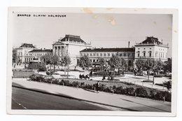 1937 YUGOSLAVIA, CROATIA, ZAGREB TO BELGRADE, SERBIA, TPO 10, RAILWAY STATION, USED ILLUSTRATED POSTCARD - Yugoslavia