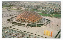 1968 MEXICO, OLYMPIC STADIUM, SPORTS PALACE, ILLUSTRATED POSTCARD, NOT USED - Mexiko
