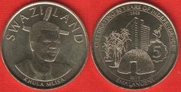 "Swaziland 5 Emalangeni 2018 ""Golden Jubilee, Independence"" UNC - Swazilandia"