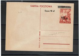 FAL12 - POLOGNE CARTE POSTALE MICHEL N° 113  NEUVE - Ganzsachen