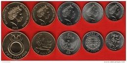 Solomon Islands Set Of 5 Coins: 10 Cents - 2 Dollars 2012 UNC - Salomonen