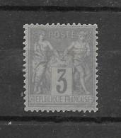 Beau Sage N° 87a Gris Clair Type II ** TTBE - Cote Y&T 2019 De 18,00 € (12 + 50%) - 1876-1898 Sage (Type II)