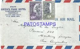 115335 TRINIDAD & TOBAGO PORT SPAIN COVER CIRCULATED TO ARGENTINA NO POSTAL POSTCARD - Trinidad & Tobago (1962-...)