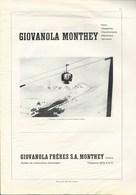 Revue  Technique Giovanola Monthey  Télésiège De Verbier Medran  Telecabine - Alte Papiere