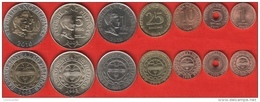 Philippines Set Of 7 Coins: 1 Sentimo - 10 Piso 2002-2011 UNC - Philippinen