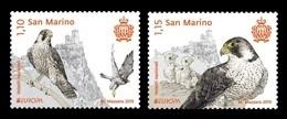 San Marino 2019 Mih. 2775/76 Europa. National Birds. Fauna. Falcons MNH ** - Unused Stamps