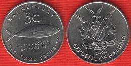 """Namibia 5 Cents 2000 Km#16 """"Fish, FAO"""" UNC - Namibië"""