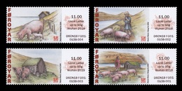 Faroe Islands 2019 Mih. A49/A52 Fauna. Pigfarming In The Faroe Islands. Pigs MNH ** - Faroe Islands