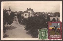 CZECHOSLOVAKIA. POSTCARD TO SWEDEN. CINDERELLA-BRUNN BEAMTENVIERTEL - Czechoslovakia