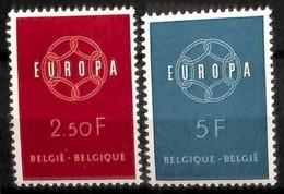 [813369]TB//**/Mnh-BELGIQUE 1959 - N° 1111/12,  Europa-CEPT, SC - Europa-CEPT