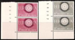 [813864]TB//**/Mnh-BELGIQUE 1960 - N° 1150/51,  Europa-CEPT, Paires, Cdf, SC - Europa-CEPT