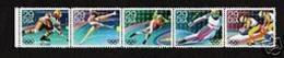 1992 USA Olympic Winter Games -Albertville Stamps #2611-15 2615a Hockey Skating Skiing Bobsledding - Winter 1992: Albertville