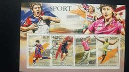 O) 2012 BURUNDI, SPORT - FOOTBALL - TENNIS - GOLF - ATHLETICS, SALLY PEARSON - LIONEL MESSI - NOVAK DJOKOVIC -MARTIN KA - Burundi