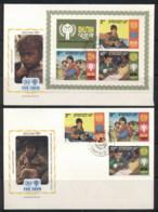 Bhutan 1979 IYC International Year Of The Child +MS 2x FDC - Bhutan