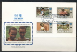 Burundi 1979 IYC International Year Of The Child FDC - Burundi