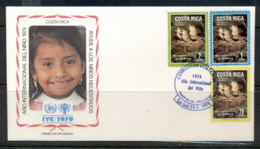 Costa Rica 1979 IYC International Year Of The Child FDC - Costa Rica