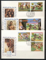 Equatorial Guinea 1979 IYC International Year Of The Child +Ms 3x FDC - Equatorial Guinea
