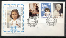 Greece 1979 IYC International Year Of The Child FDC - Covers & Documents