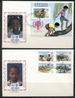 Grenada Grenadines 1979 IYC International Year Of The Child + MS 2x FDC - Grenada (1974-...)