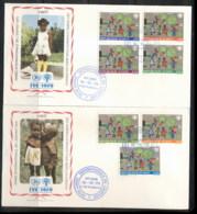 Haiti 1979 IYC International Year Of The Child 2x FDC - Haiti