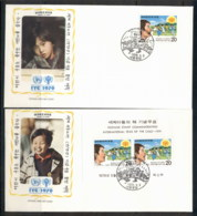 Korea 1979 IYC International Year Of The Child +MS 2x FDC - Korea (...-1945)