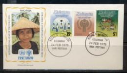 Malaysia 1979 IYC International Year Of The Child FDC - Malaysia (1964-...)