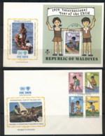 Maldive Is  1979 IYC International Year Of The Child +MS 2xFDC - Maldives (1965-...)