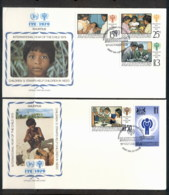 Mauritius 1979 IYC International Year Of The Child 2xFDC - Mauritius (1968-...)