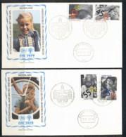 Netherlands 1979 IYC International Year Of The Child 2x FDC - 1949-1980 (Juliana)