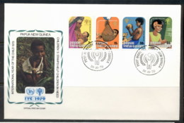 PNG 1979 IYC International Year Of The Child FDC - Papua New Guinea