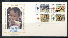 Singapore 1979 IYC International Year Of The Child FDC - Singapore (1959-...)