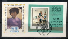 South East Asia 1979 IYC International Year Of The Child MS FDC - Korea, North