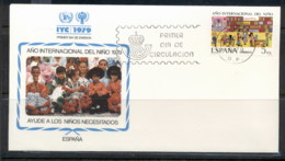 Spain 1979 IYC International Year Of The Child FDC - 1931-Today: 2nd Rep - ... Juan Carlos I
