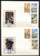 Trinidad & Tobago 1979 IYC International Year Of The Child 2xFDC - Trinidad & Tobago (1962-...)