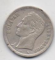 VENEZUELA SILVER COIN 1 BOLIVAR -1960-USED AS SCAN(Kbx) - Venezuela