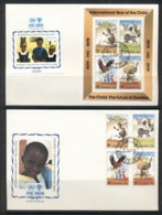 Zambia 1979 IYC International Year Of The Child +MS 2xFDC - Zambia (1965-...)
