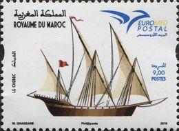 MOROCCO EUROMED POSTAL CHEBEC SAILING NAVIGATION SHIPS BOATS 2015 - Morocco (1956-...)