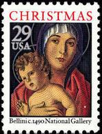 1992 USA Christmas Madonna And Child Stamp Sc#2710 Painting - Post