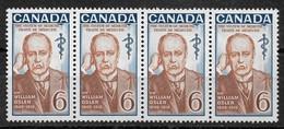 Canada 1969,Sir William Osler Issue,Medicine Strip Of 4 Stamps ,Scott # 495,VF MNH** (GLN-1) - Medicine