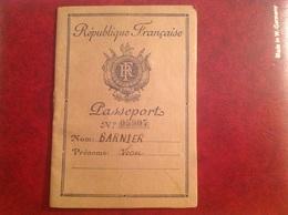 Passeport Français 1946 Leon Barnier - Non Classés
