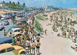 Meio Beach Natal Brazil Wild Cars Postcard - Natal