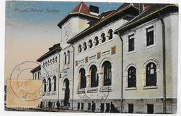 (RECTO / VERSO) ROUMANIE - FOCSANI EN 1923- PALATUL JUSTIFIEI - BEAUX TIMBRES ET CACHET - CPA COULEUR VOYAGEE - Romania